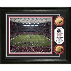 ATLANTA FALCONS NFL Georgia Dome 24KT Gold Coin Photo Mint