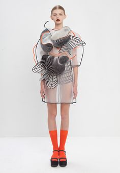 Noa Raviv Shows Off Her Amazing 3D Printed Fashion http://3dprint.com/12682/3d-printing-fashion/