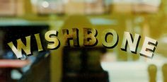 wishbone gold leaf lettering on glass | Flickr - Photo Sharing!