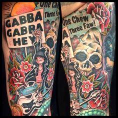 Maximator's Ramones tattoos