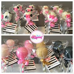 kate spade inspired cake pops 1st Birthday Parties, Birthday Party Decorations, Kate Spade Party, Cookie Display, Promotion Party, Baby Shower Flowers, Happy B Day, Baby Party, Cakepops