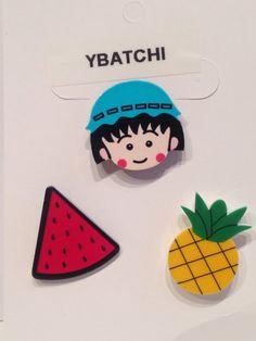 Pack 3 #pines ropa niño sandía y una piña #broche por #YBatchi en Etsy