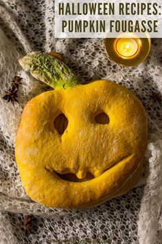 A flat, crusty bread from Southern France is perfect as an appetizer or as an accompaniment to a soup or stew! Made into a scary pumpkin shape, this year our Pumpkin Fougasse is not only a lovely side dish but also a Halloween decoration! #Halloweenrecipes #fougasse #pumpkinrecipes