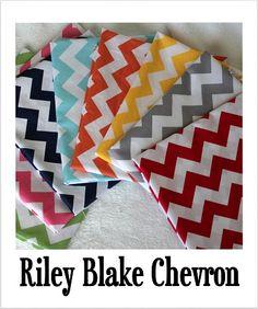 Chevron fabic by Riley Blake.  Love