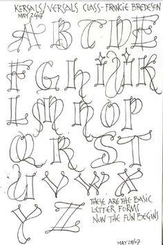 69 Best Hand Lettered Alphabets Images Hand Lettering Script