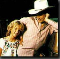 George Strait with his daughter, Jenifer, who tragically lost her life in a car accident in 1986.