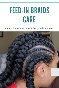 Feed-in cornrows are cornrows done with extensions that are installed in a seamless way. Feed In Braid, Itchy Scalp, Goddess Braids, African American Hairstyles, Dandruff, Prom Hairstyles, Cornrows, Hair Videos, Box Braids