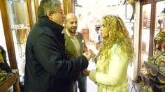 Lo scienziato Antonio Giordano e il maestro Marco Ferrigno con Leandra D'Andrea in Art. Ledy Napule