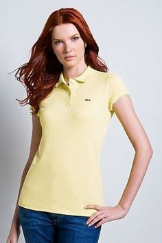 polo ralph lauren outlet online Lacoste Women s Short Sleeve 2 Button  Stretch Pique Polo Shirt Yellow 3dc34bf5d05