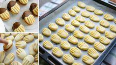 Výborné domácí máslové sušenky máčené v čokoládě! Vhodné ke kávě!