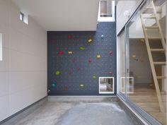 3way House / Naf Architect & Design / Muro de escalada al interior de una casa
