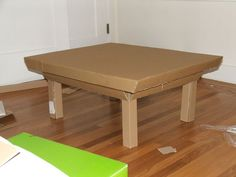 Simple Cardboard coffee table - free template and step by step Photo tutorial - Bildanleitung
