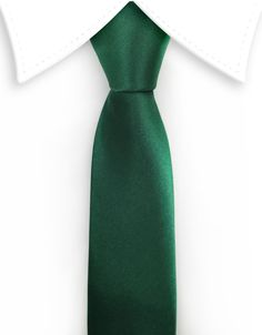 """Product number: SKNY-1288 Length: 58"""" Width: 2"""" Material: 100% Microfiber Care: Dry Clean / Spot Clean Label: GENTLEMAN JOE A dark green, narrow necktie just waiting to be added to your wardrobe. Grea"""