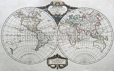 America centric antique vintage color world map map posters and original antique world map map posters and prints available at barewalls gumiabroncs Gallery