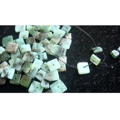 Emerald  Emerald Square Heishi Cut Beads  180 by gemsforjewels, $16.80