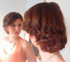 Braided bun - love this hairstyle (: