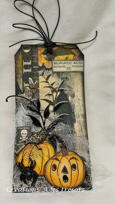 Créations A les trésors: Étiquette Halloween - 2