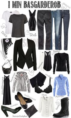 basic wardrobe ... have to work on this one ... bend to my age and a dash more classic ...