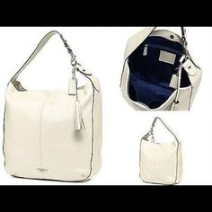 Coach Avy Leather Hobo BRAND NEW! Coach Avy Leather Hobo in Bone (color). Coach Bags Hobos