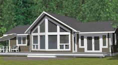 "Winton ""Chelan"" - nice bungalow plan - 1200sq.ft., 3bed 2 bath, deck & ensuite for master. No mudroom."