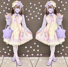 #psytrance #psychedelic #trance #festival #visionary Harajuku Fashion, Japan Fashion, Kawaii Fashion, Lolita Fashion, Cute Fashion, Harajuku Style, Princess Daisy Costume, Mode Lolita, Alternative Fashion