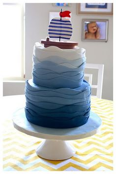 baby shower sailboat cake