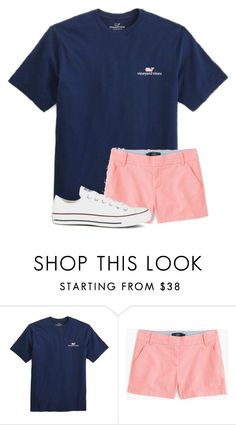 """&&; school shopping"" by strawberry-styles ❤ liked on Polyvore featuring Vineyard Vines, J.Crew and Converse"