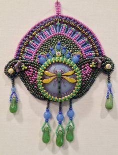Each year I design two or more limited-edition bead embroidered ornaments and create kits. Kits contain all supplies needed except Beaded Brooch, Beaded Jewelry, Jewelry Box, Jewellery, Embroidery Kits, Beaded Embroidery, Peyote Stitch, How To Make Beads, Bead Art
