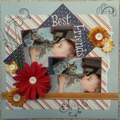Best Friends - Scrapbook.com - Sweet page. #scrapbooking #layouts #provocraft
