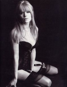 Anita Pallenberg - actress, model, designer and Keith Richards former girlfriend