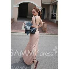 Stylish Style Scoop Neck and Back Design Solid Color Sleeveless Dress For Women (www.sammydress.com)