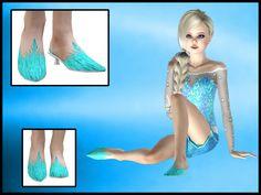Disneys Frozen Elsa Shoes The Sims 3 CC Caboodle