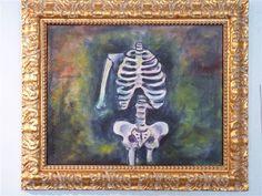 "https://www.etsy.com/shop/TrulyOriginalArt ""These Bones"" original oil painting by Kelly Shoemaker"