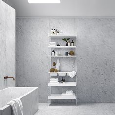 Bathroom shelving solutions and lots of bathroom inspiration from String. Bathroom solutions with wall panels in wire or plex perfect for the smaller bathroom. Bathroom Furniture, New Furniture, Furniture Design, Furniture Ideas, Shelving Solutions, Shelving Systems, Storage Systems, Regal Bad, String Regal