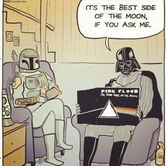 Darth Vader. If you ask me... it's the best side of the moon.