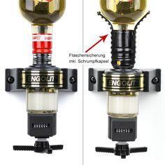 ENGOLIT Spirituosen-Dosierer mit mechanischem Zähler. Hochwertiges 6-stelliges Zählwerk mit Schutz gegen Staub und Wasser. Somit lässt sich der Portionierer auch problemlos reinigen.