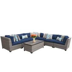 Florence 8 Piece Sectional Seating Group with Cushion with Price : $ 1619.99