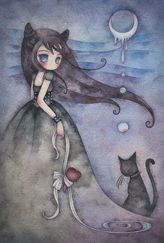 Kawaii Interview: Juri Ueda ¤ non solo Kawaii Art And Illustration, Illustrations, Cat Art, Cute Drawings, Painting & Drawing, Watercolor Art, Fantasy Art, Anime Art, Artsy