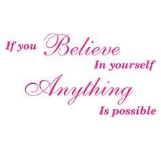 Αυτοκόλλητα τοίχου γράμματα - φράσεις :: If you Believe...