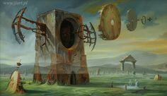 Art Surrealism - Jaroslaw Jasnikowsi - Zanikanie Czasu