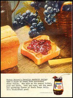 1961 vintage ad for Kraft Grape Jelly -451