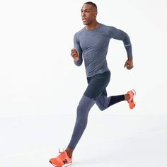 Shop J.Crew for the New Balance® for J.Crew compression tights for Men. Find the best selection of Men Activewear available in-stores and online. Gym Outfit Men, Crossfit Clothes, Mens Tights, Gym Style, Sport Style, Style Men, Sport Outfits, Gym Outfits, Workout Outfits
