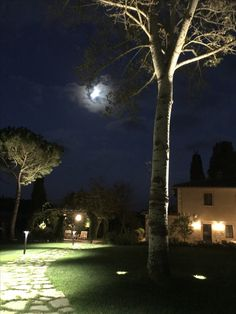 Tuscany country house by night
