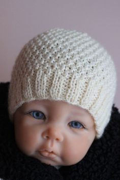 Free knitting instructions for baby hat,Free knitting instructions for baby hat more. - Free knitting instructions for baby hat, - Baby Hat Knitting Patterns Free, Baby Hat Patterns, Baby Hats Knitting, Knitting Blogs, Knitting Stitches, Free Knitting, Knitted Hats, Newborn Knit Hat, Newborn Hats