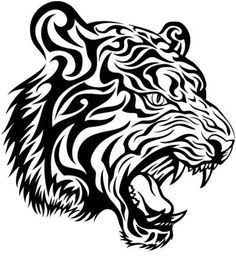 tribal tiger tattoo design, I want this on my arm!!!