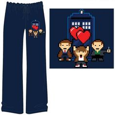 Doctor Who  8-Bit Double Heart Lounge Pants (Exclusive)  1875de447