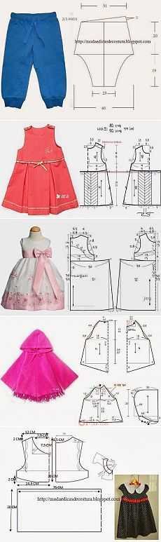 Sewing Ideas For Baby sewing Deniz - Без заголовка Baby Dress Patterns, Baby Clothes Patterns, Sewing Patterns For Kids, Clothing Patterns, Skirt Patterns, Coat Patterns, Blouse Patterns, Little Girl Dresses, Girls Dresses