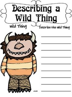 """Where the Wild Things Are"", by M. Sendak, Questions and Projects Classroom Themes, Classroom Activities, Book Activities, Teaching Kids, Teaching Resources, 1st Grade Writing, Book Week, Children's Literature, Conte"