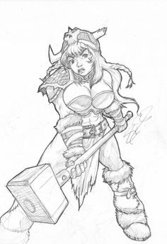 A female dwarf knight, depicted here to be wearing an elaborate plate armour and wielding a shield and hammer. Description from deviantart.com. I searched for this on bing.com/images