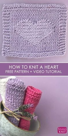 Easy Heart Knit Stitch Pattern by Studio Knit for Beginners 8ed525eef3